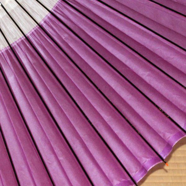 紫 和傘 蛇の目柄