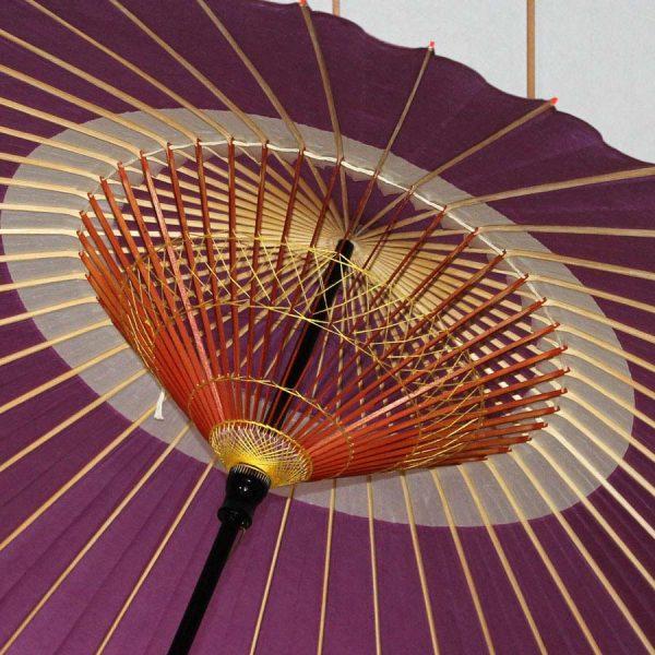 紫 蛇の目柄 和傘 内側