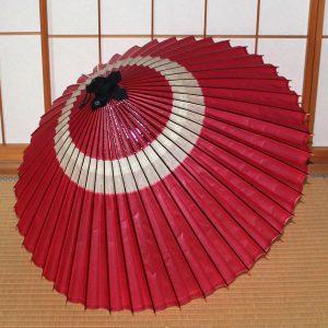 桃色 蛇の目柄 和傘 蛇の目傘 中入り Japanese umbrella