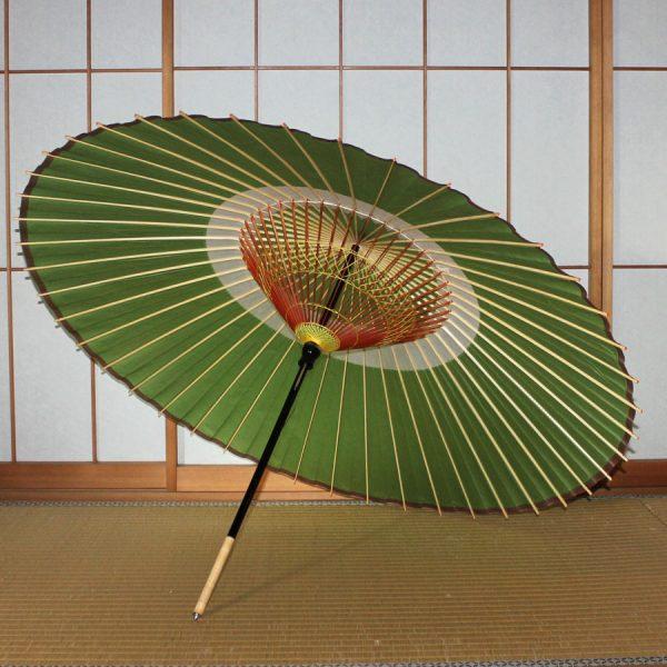 緑 和傘 蛇の目傘 蛇の目柄  Japanese umbrella