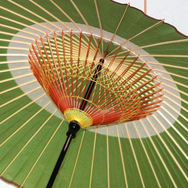 緑 蛇の目柄 蛇の目傘 和傘