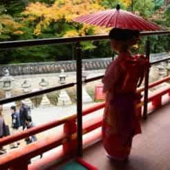 子どもと和日傘 七五三と和日傘
