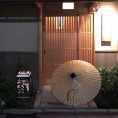 お店の前 番傘 手書き しるし入れ 番傘に店名を書く ほりべ