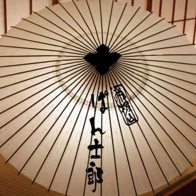 番傘 手書き しるし入れ 番傘に店名を書く ぱん士郎