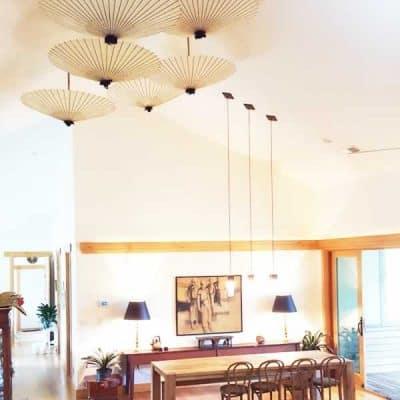天井 インテリア 和傘 番傘 umbrella interior white 白いインテリア