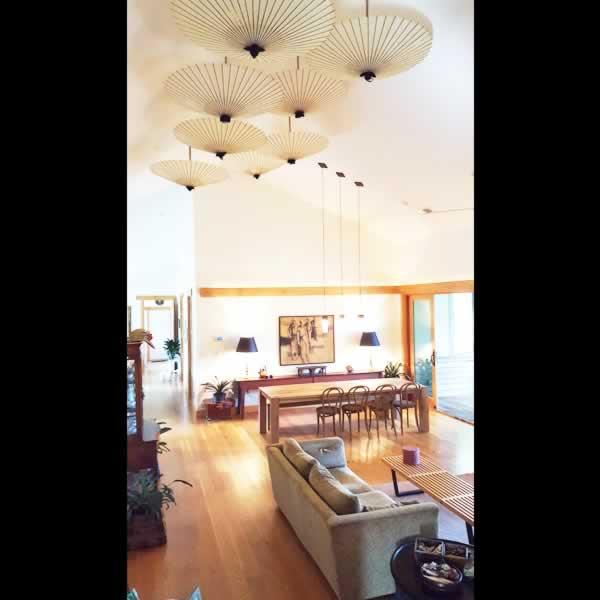 天井 インテリア 和傘 番傘 室内 北欧風 umbrella interior