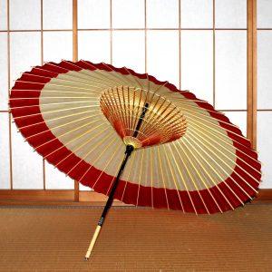 蛇の目傘内側 白と赤の和傘