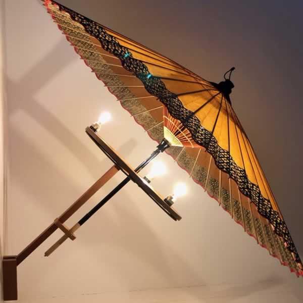 ディスプレイ 和傘 スリランカ 美しい 灯り light umbrella