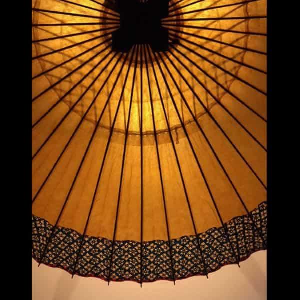 gold wagasa 和傘 灯り 和紙 蛇の目傘軒もよう 和のインテリア