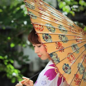 もよう和傘 模様 pattern wagasa japanese umbrella 型染和紙の蛇の目傘 可愛らしい和傘