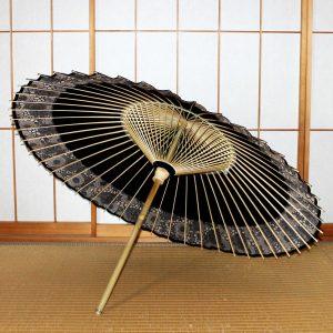 おしゃれな番傘 黒い和傘