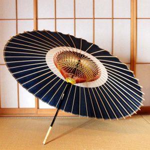 蛇の目柄 蛇の目傘 藍色 JapaneseUmbrella