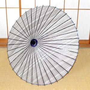 型染和紙の和日傘 さわやかな青色の和日傘