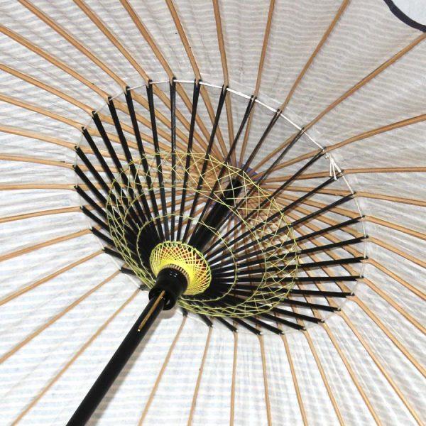 特選和日傘の内側 職人の糸飾りが美しい