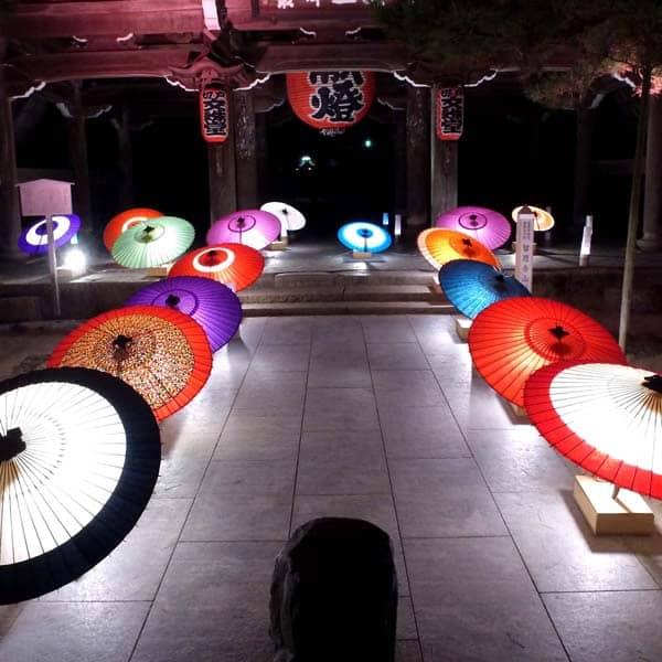 和傘のディスプレー 天の箸立て 和傘のご使用例