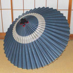 蛇の目傘 青い蛇の目傘 越中手漉き和紙 草木染 辻倉オリジナル蛇の目傘「極み」 Japaneseumbrella