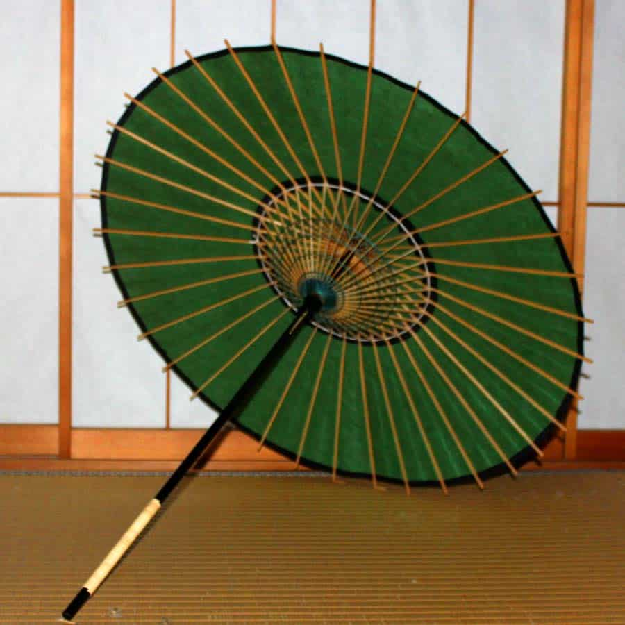 Green / Unryu paper / Japanese Parasol EN Series | Kyoto Tsujikura