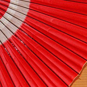 越中手漉き和紙 草木染 赤い和傘