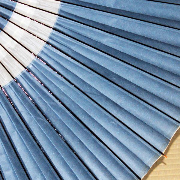 越中手漉き和紙 草木染 露草色 和傘