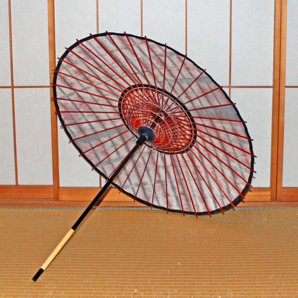絞り染め和日傘の内側 手すき和紙 日傘 和傘