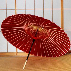 赤い蛇の目傘の内側 Japaneseumbrella 和傘