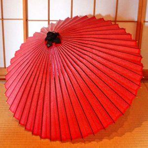 Japanese umbrella red 赤 蛇の目傘 和傘