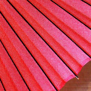 赤い鹿の子もよう 蛇の目傘 和傘 赤 red
