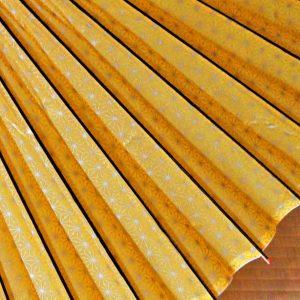 麻の葉模様 黄色 型染め和紙 和傘 じゃのめ傘