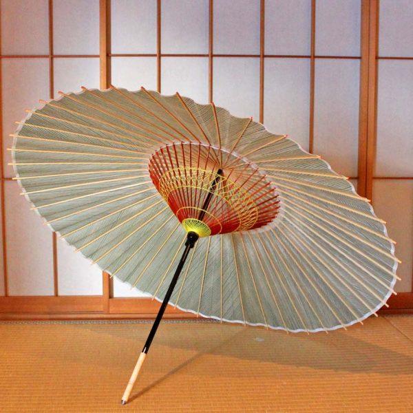 緑色 Green 和傘 蛇の目傘 番傘 Japanese umbrella
