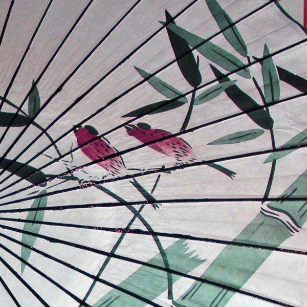 竹に雀柄の和日傘 Japanese umbrella