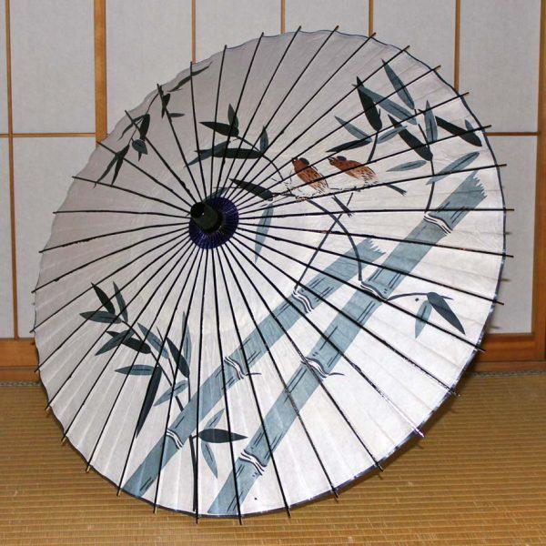 Japanese umbrella 竹に雀が描かれた和日傘