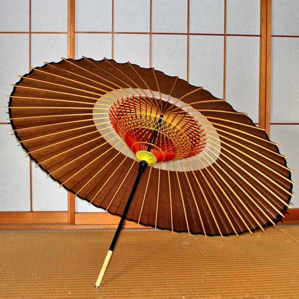 茶色の蛇の目傘 蛇の目柄 Japanese umbrella