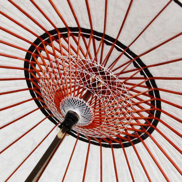 和日傘 内側の糸飾り