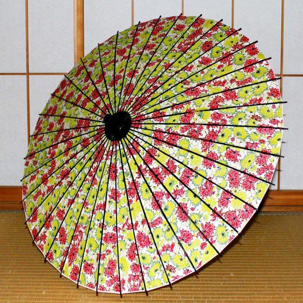 花模様の和傘 型染め和紙