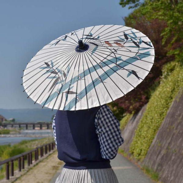 雀と竹 和日傘 Japanese umbrella
