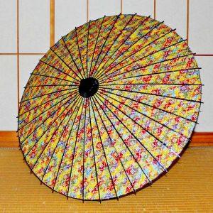 Japanese umbrella 型染め和紙 ぼかし染め 虹色