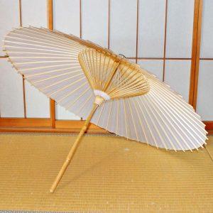 極上番傘 白 和傘 番傘 Japanese umbrella