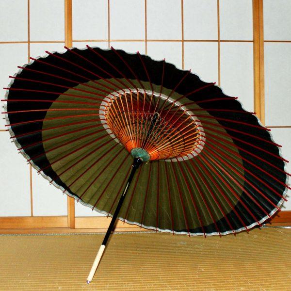 和傘 月奴 緑と黒の月 Japanese umbrella