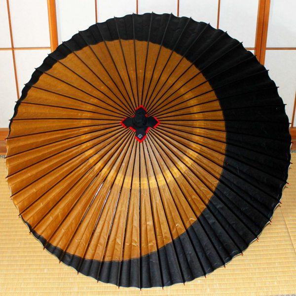 黄金色の月 黒い三日月 Japanese umbrella 特撰月奴