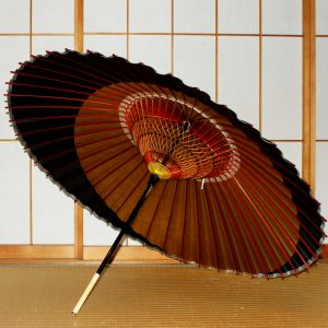 特選月奴 内側 糸飾り Japanese umbrella