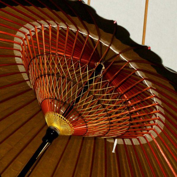 特選月奴の糸飾り 和傘内側
