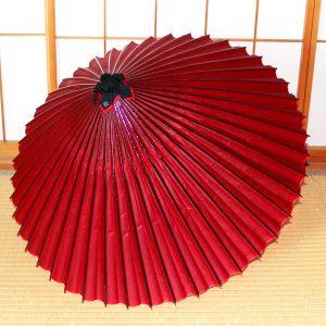 Japanese umbrella Red 赤 和傘 蛇の目傘