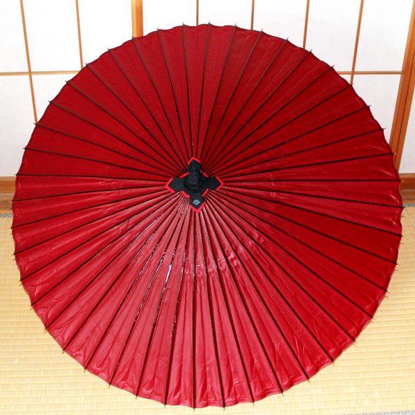 赤色の和傘 赤の番傘 Japaneseumbrella 和紙の傘