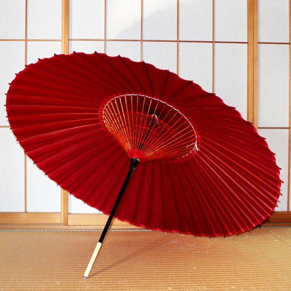 赤い蛇の目傘 Japanese umbrella 紅色
