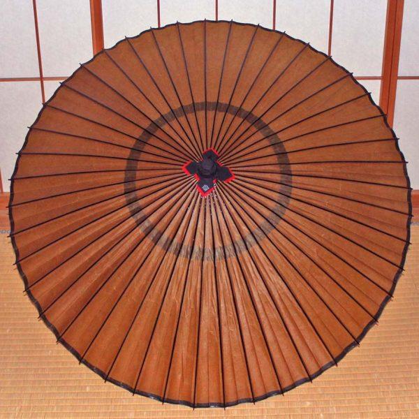 茶色の和傘 蛇の目傘 和傘 Japanese umbrella