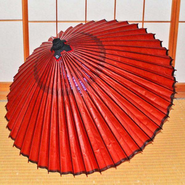 Japanese umbrella 和傘 蛇の目傘 紅葉色 Japanese umbrella wagasa