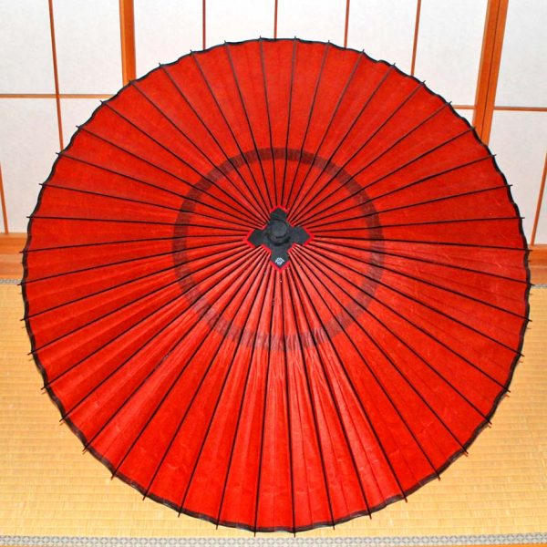 特選無地京紅葉 和傘 蛇の目傘