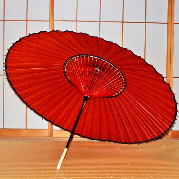 蛇の目傘の内側 和傘 紅葉色 Japanese u,brella