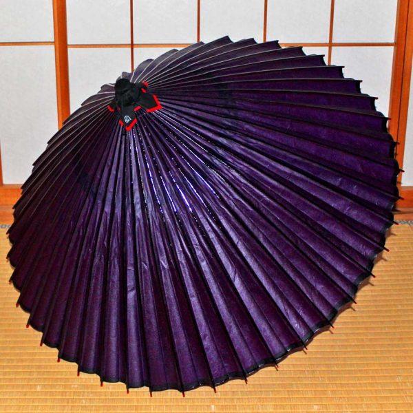 蛇の目傘 和傘 紫 Japanese umbrella