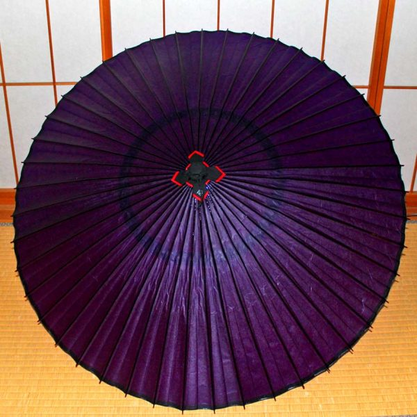 紫色の蛇の目傘 京紫 和傘 Japanese umbrella